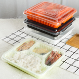 Gepai disposable lunch box three four compartments multiple compartments fast food PP take-away box